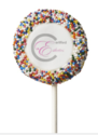 This is probably one of my favorites- Cake pops! These custom Oreo® pops are covered in white or milk chocolate, adorned with the image of your choice and sprinkled in your choice of 5 colors.