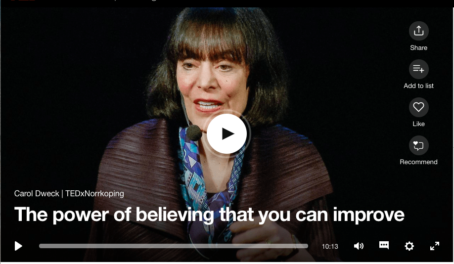 The power of believing that you can improve