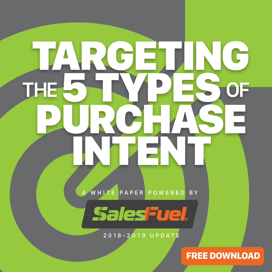 Targeting 5 types of purchase intent