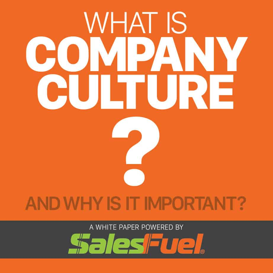 What is company culture? And why is it important? White paper from SalesFuel