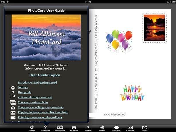 Cartes de voeux élégantes avec PhotoCard sur Ipad/iPhone 2