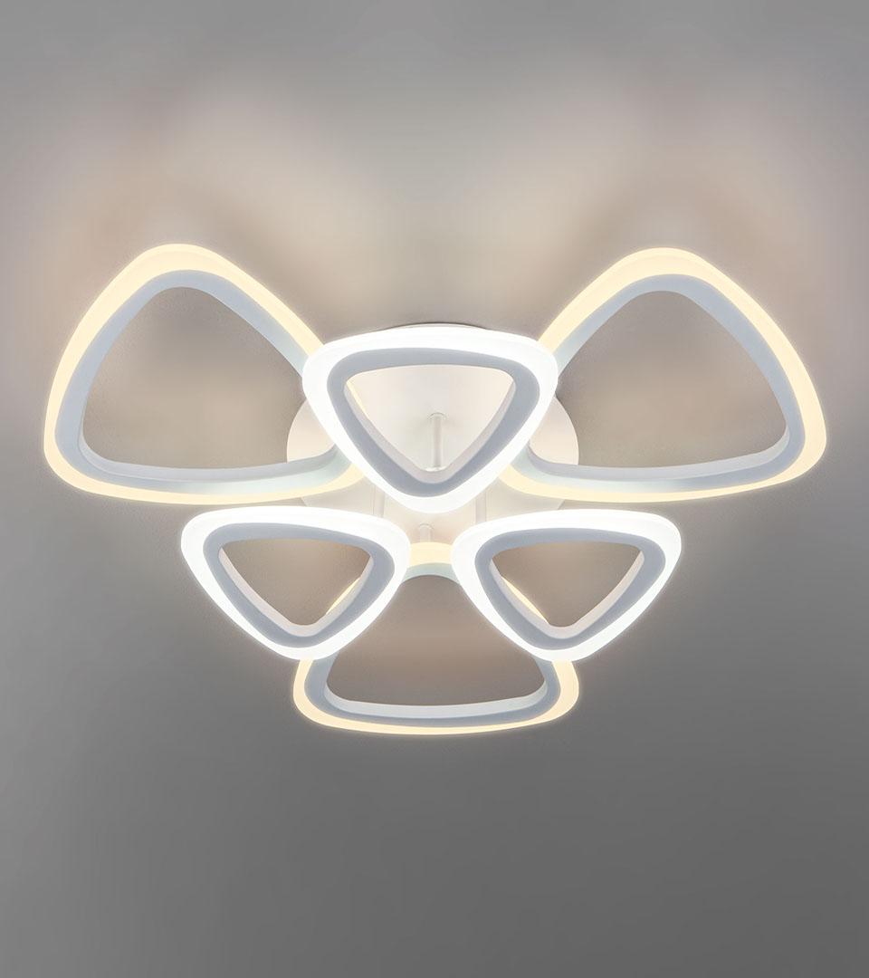 Потолочный светодиодный светильник с пультом управления 90216/6 белый 5