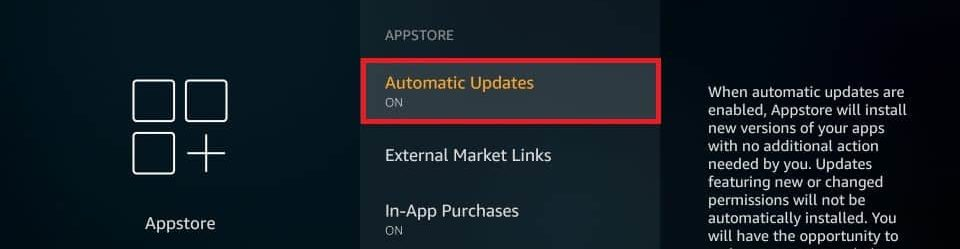 select automatic updates