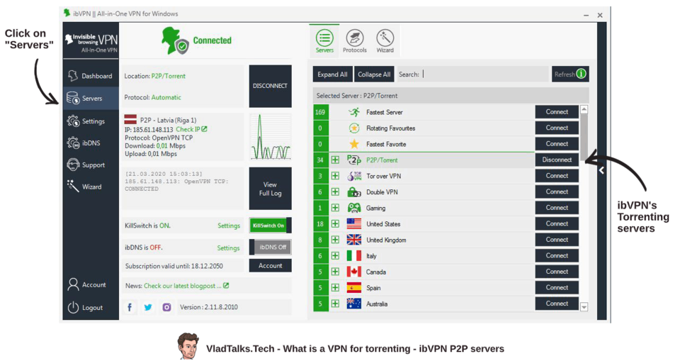 What is a VPN for torrenting and how to connect to ibVPN's P2P servers