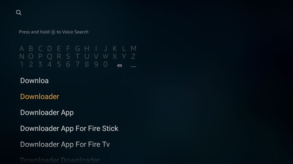 click the downloader option nova tv on fire tv stick