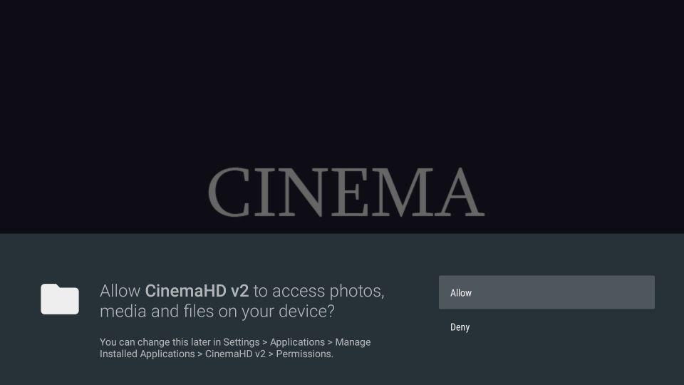 click allow