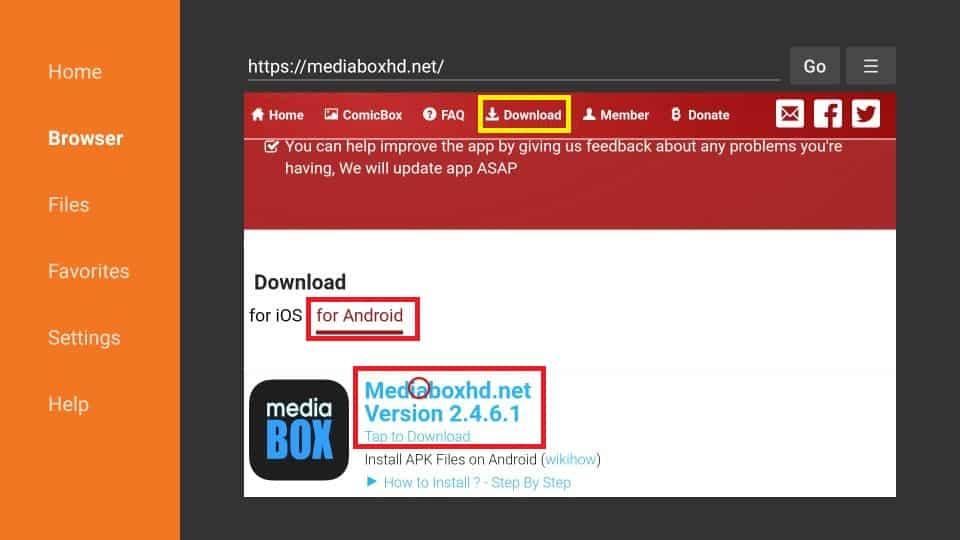 MediaBox HD APK download