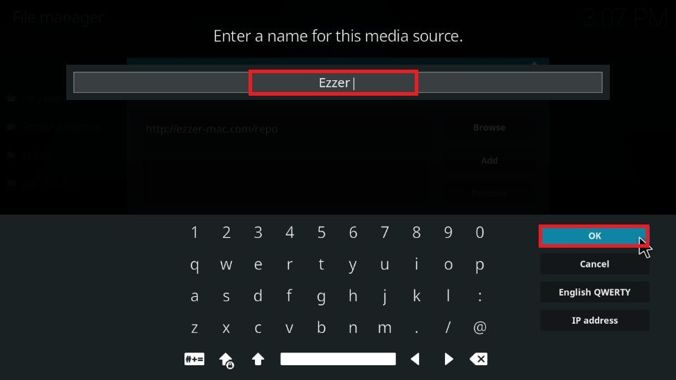 Enter a name of your choice for this media source.