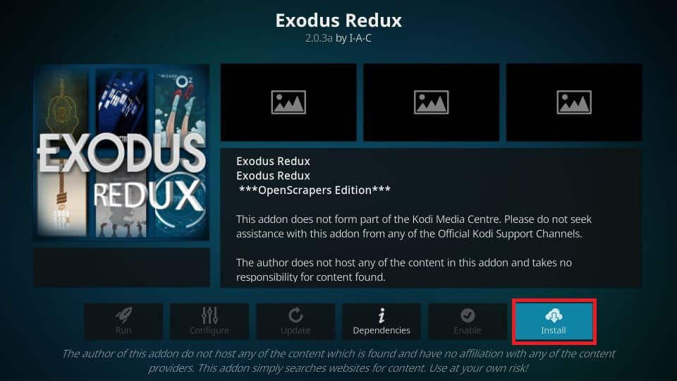 How to install kodi exodus redux addon