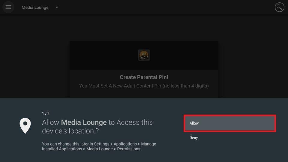 Media Lounge APK for Firestick