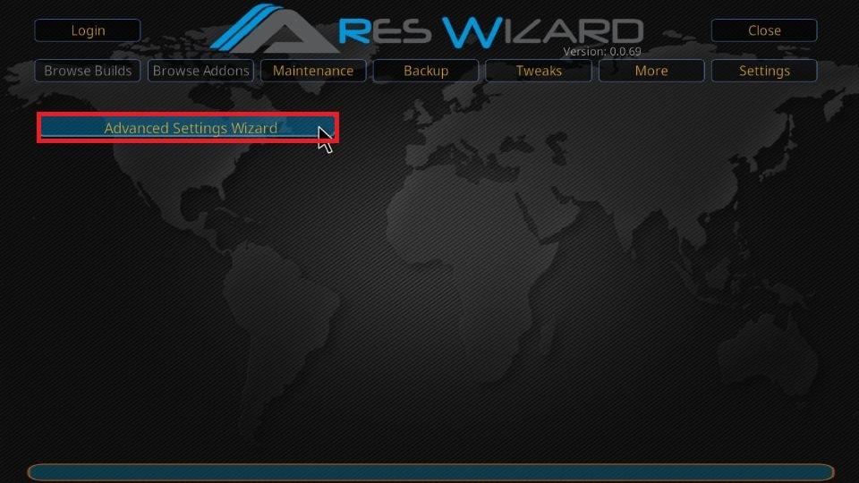 Click Advanced Settings Wizard
