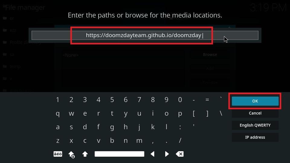 how to install Doomzday build on Kodi