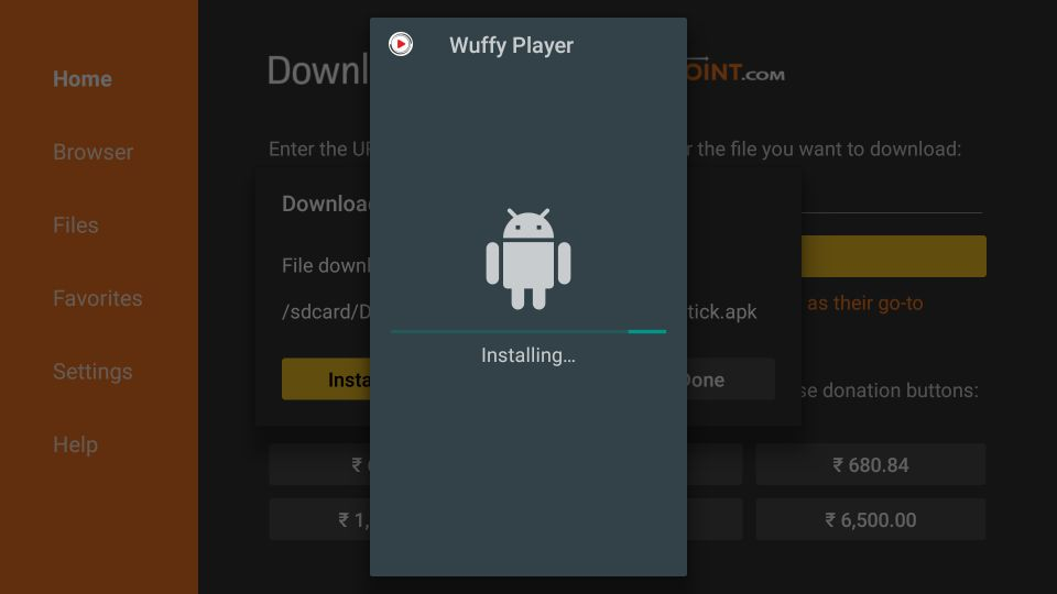 set up Wuffy Player APK on Firestick