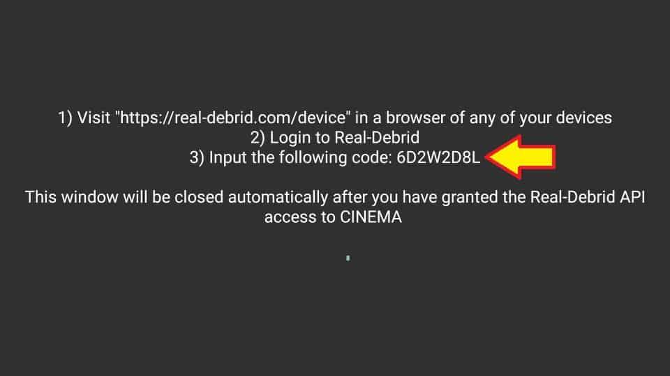login to real debrid