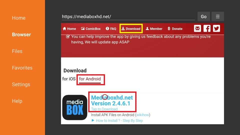 MediaBox HD APK download