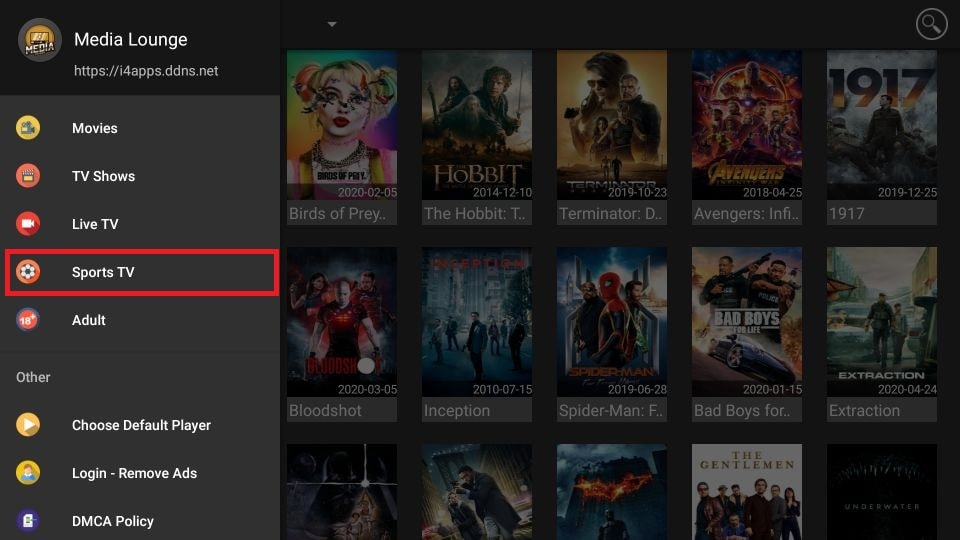Media Lounge APK for Firestick