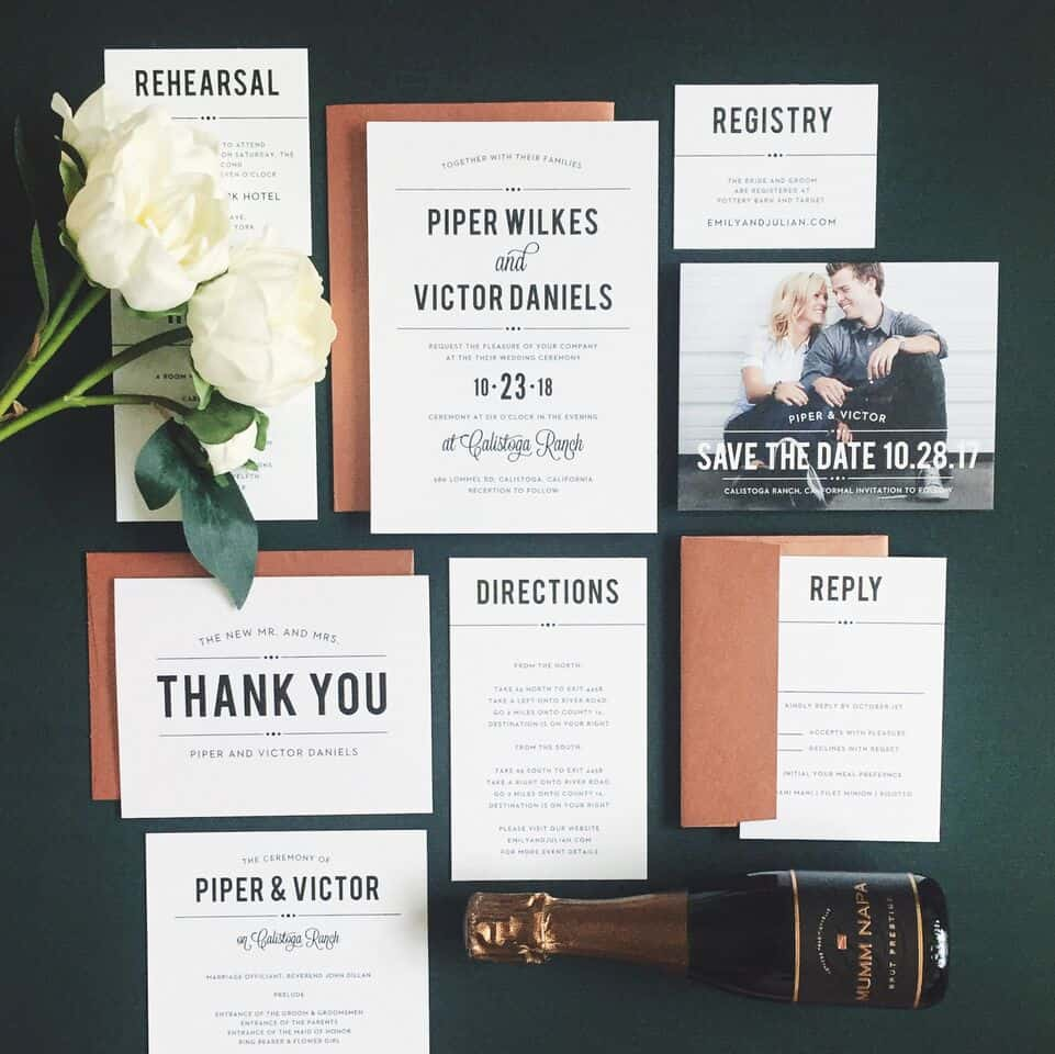 Basic Invite Wedding Invitation
