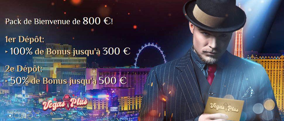 VegasPlus Bonus de bienvenue