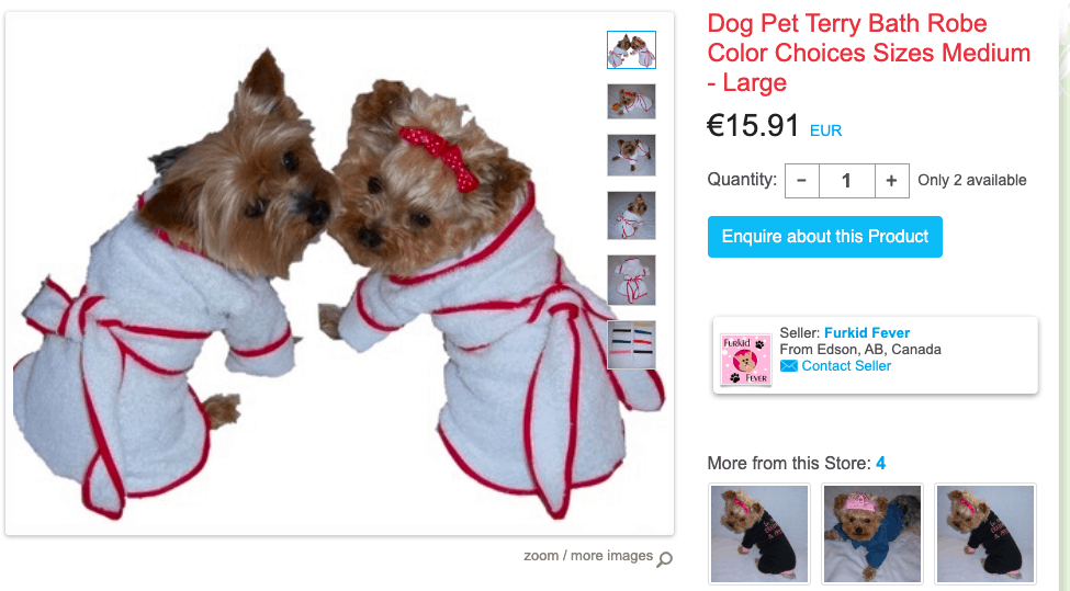Terry bathrobe for dogs - iCraft