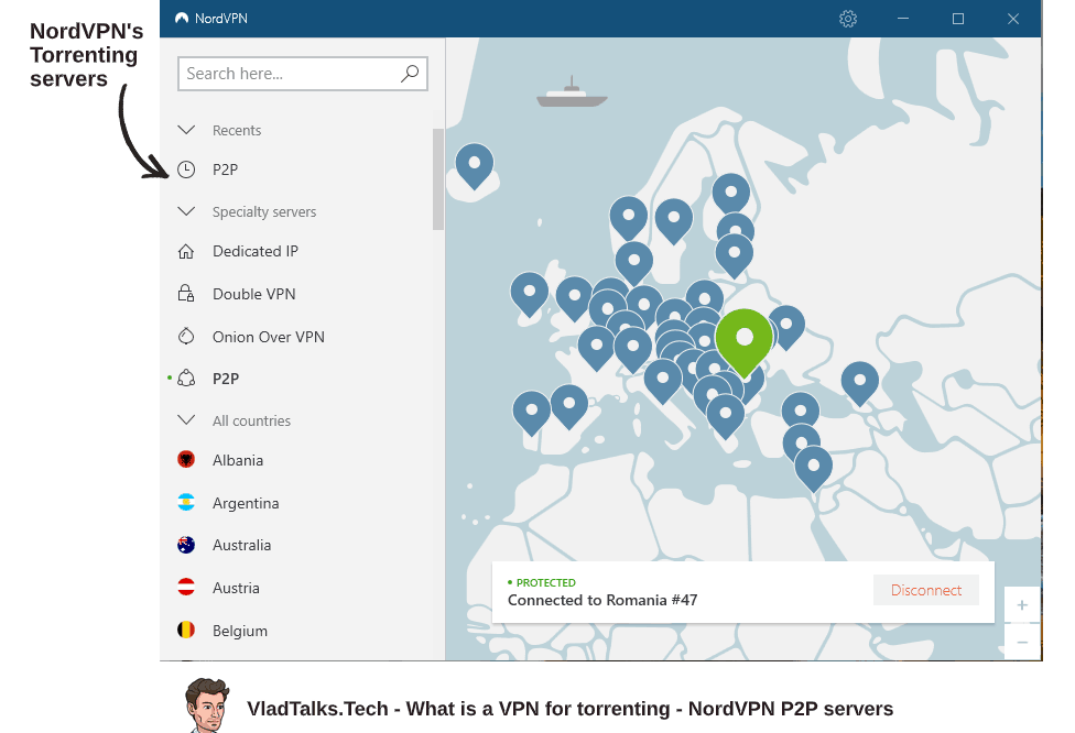 What is a VPN for torrenting and how to connect to NordVPN's P2P servers
