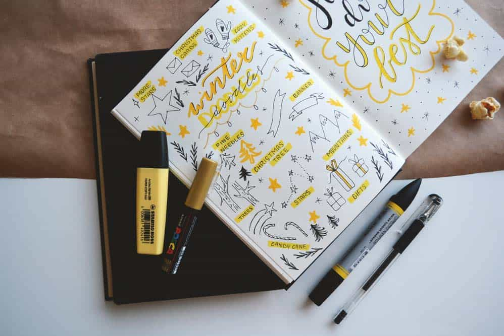 Winter Bullet Journal Ideas