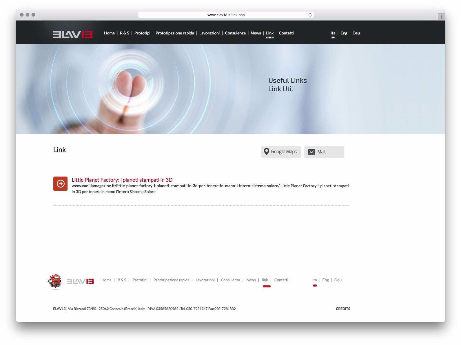 Creazione Siti Web Brescia - Sito Web Elav13
