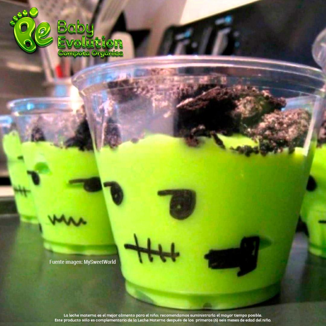 5 recetas saludables para Halloween que darás sin remordimiento - Yogur Fankenstein