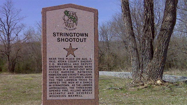 Stringtown Historical Marker
