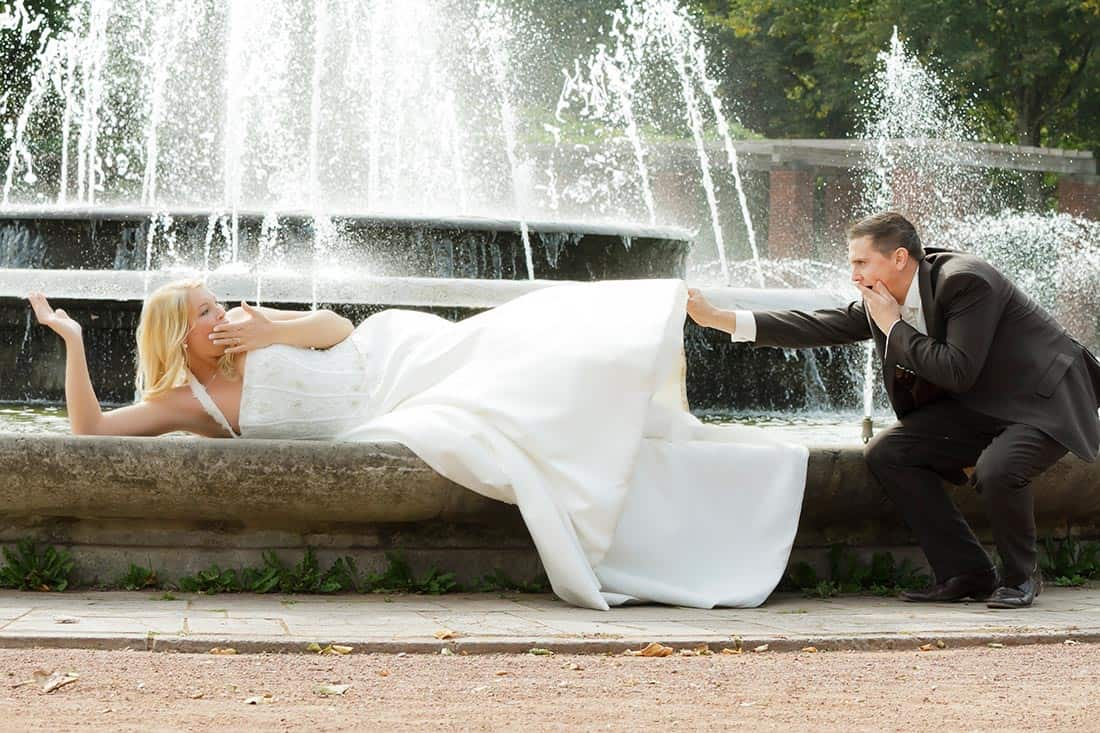 Das alternative Brautpaar-Shooting vom Hochzeitsfotograf