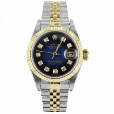Reproduction Montre Rolex Luxe Fond Bleu
