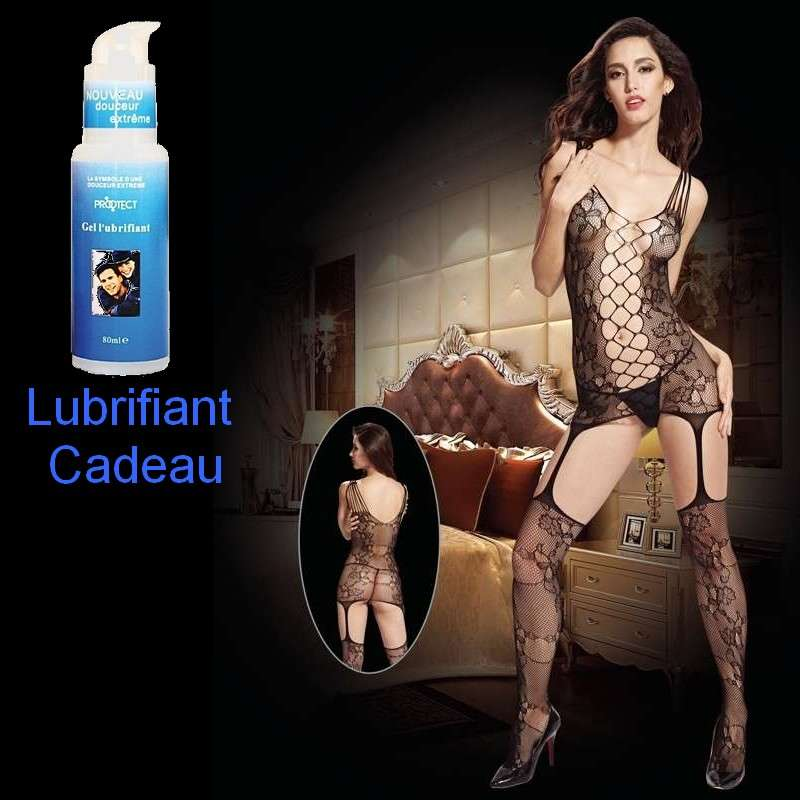 Bodystoking Sexy Seduction + Lubrifiant Cadeau