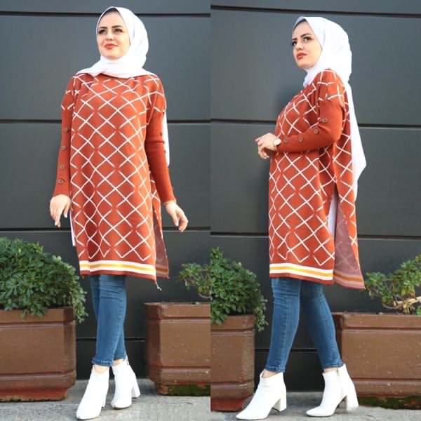 Cape Trikot Long Orange - كاب تركي