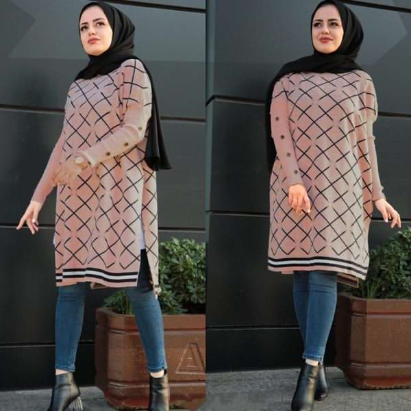 Cape Trikot Long Rose - كاب تركي