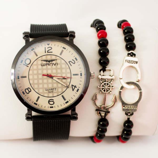 Montre Classique Style Marine avec deux bracelet Cadeau