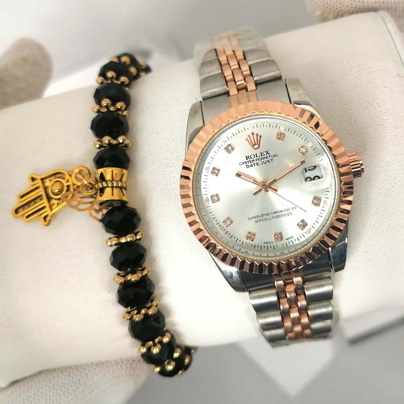 Reproduction Montre Rolex Datejust Bronze interieur Blanc + Bracelet