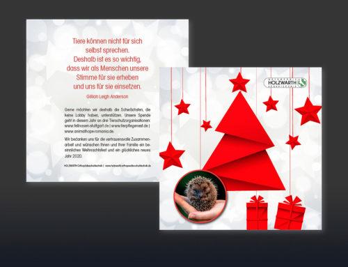 individuell gestaltete Weihnachtskarte