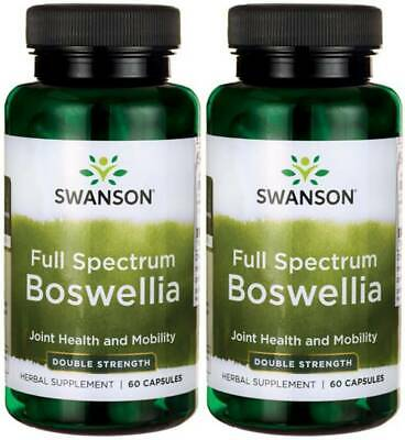 Swanson Full Spectrum Boswellia Double Strength 800 Mg 120 Cap Help Joint +Bonus