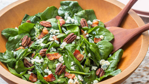Keto Spinach Salad with Bacon