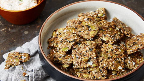 Keto Seeded Crackers Recipe