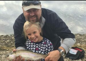 Lethbridge Herald- News and sports from around Southern Alberta-Mitch Ball poses with his then-four-year-old daughter Macey and their catch while enjoying time together fishing.