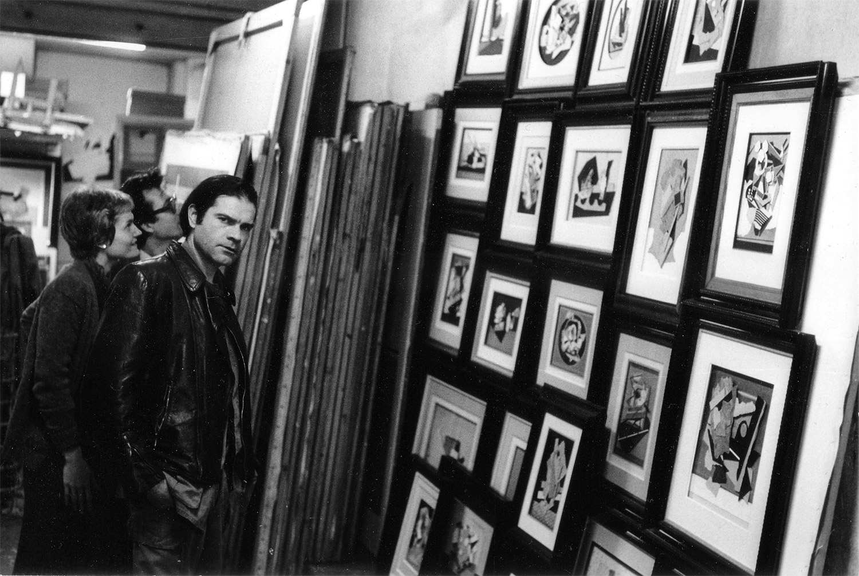 Le Yaouanc dans son atelier, avec Lionel Ray et Nicky Tillinghast.
