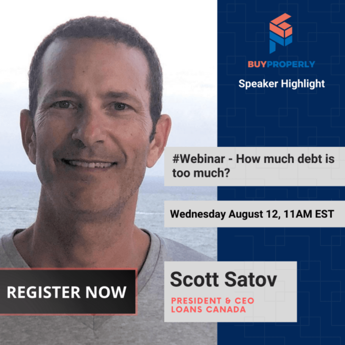 How Much Debt Is Too Much? Watch BuyProperly's Webinar Featuring Loans Canada CEO Scott Satov and Borrowell COO Eva Wong.