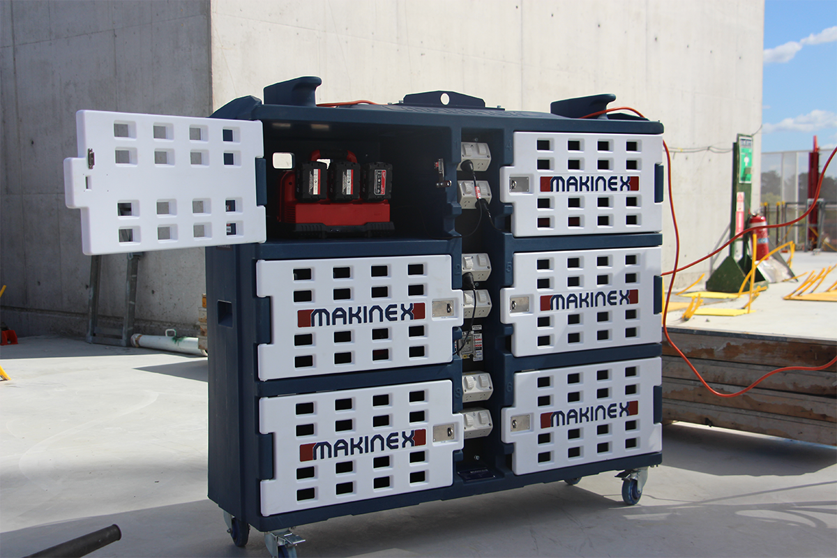 The Compliant & Safer Storage Solution For Your Power Tools/Batteries & Other Equipment – Mobile Charge Pod