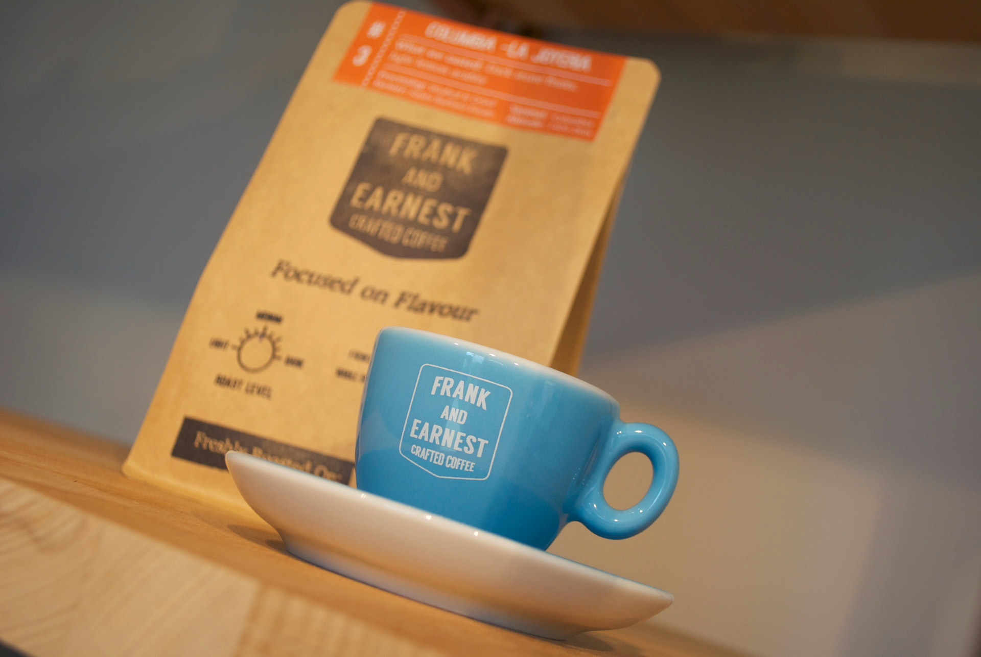 Frank and Earnest Crafted Coffee Bag and Cup