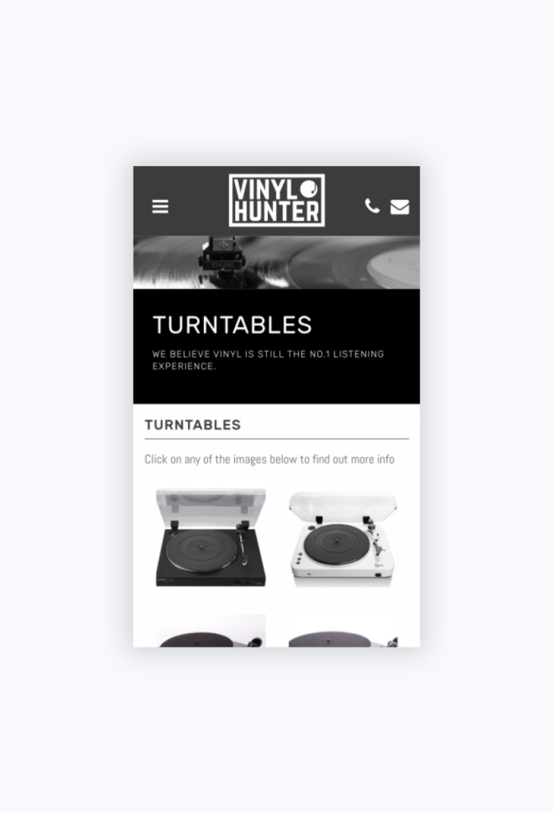 Vinyl Hunter Mobile Turntables