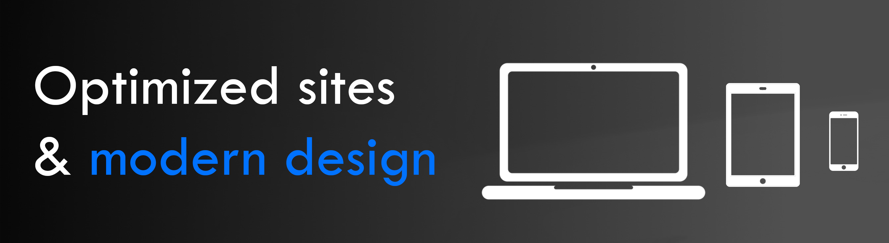 optimized websites and modern designs