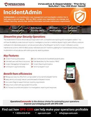IncidentAdmin incident management software