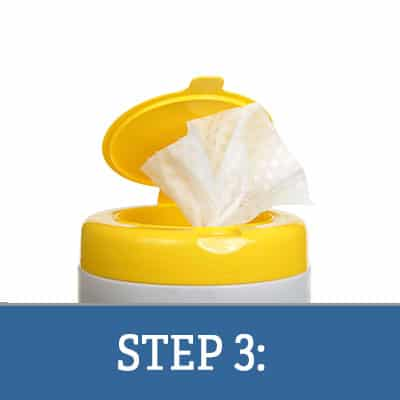 Step 3: Loading Wipes into Canisters and Wetting