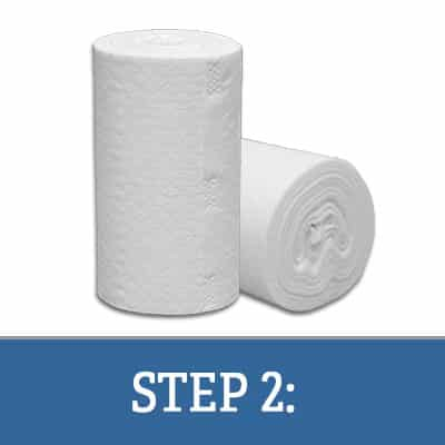 Step 2: Slitting Coreless Perforated Rolls and Sealing for Canister Wipes