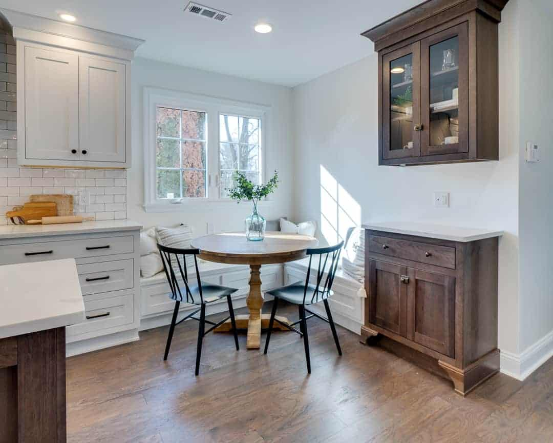 White Farmhouse Kitchen Idea Bucks County PA